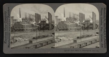 Steel mills at Birmingham, c. 1923. (Keystone View Company, Library of Congress Prints and Photographs Division)