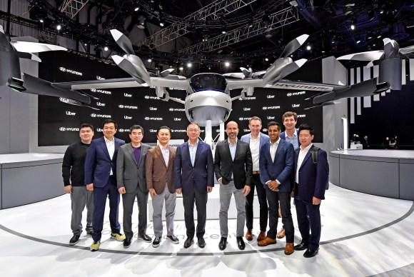 Hyundai and Uber unveiled a flying car at CES 2020. (Hyundai)