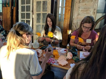 The Paper Petals Co. offers workshops where customers can learn to make paper flowers. (contributed)