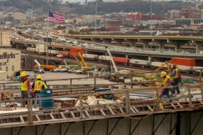 Crews worked 12 months to demolish and reconstruct more than one mile of interstate bridges across downtown Birmingham. (Dennis Washington / Alabama NewsCenter)