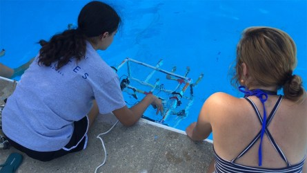 The ROV programs and competitions are key parts of the staff's philosophy of hands-on learning. (contributed)