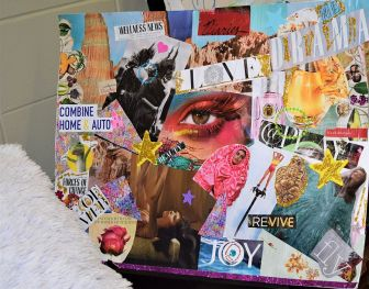 One client has applied her dreams to a 'vision board.' (Donna Cope/Alabama NewsCenter)