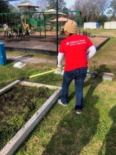 Southeast APSO members cleaned gardening plots and playground areas at the Eufaula City Schools Early Learning Center as part of MLK Day events sponsored by the Eufaula-Barbour County Chamber of Commerce. (Southeast APSO-Enterprise subchapter)
