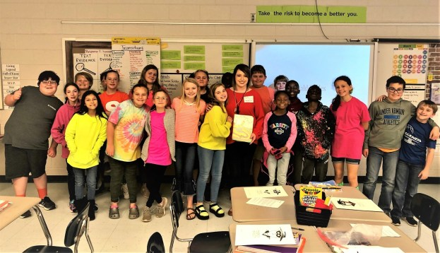 Brittany Killingsworth from the Alabama Power Service Organization participated in Read Across America at Headland Elementary School. (contributed)