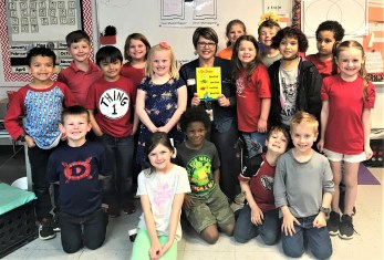 Carla Moore from the Alabama Power Service Organization participated in Read Across America at Cottonwood Elementary School. (contributed)
