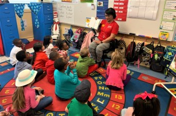 Lakeisha Russaw of the Alabama Power Service Organization participated in Read Across America at Eufaula Primary School. (contributed)