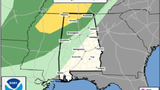 Scott Martin: Strong storms possible in parts of Alabama late Saturday