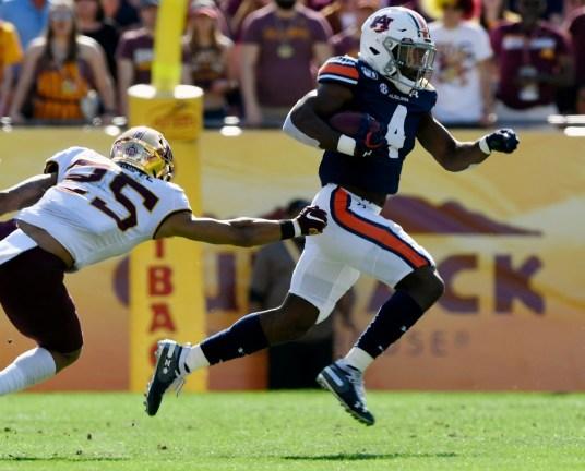 Auburn's Noah Igbinoghene has outstanding NFL potential, Mel Kiper Jr. says. (Todd Van Emst/AU Athletics