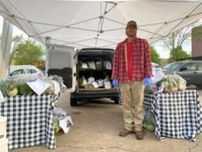 Belle Meadow Farm participates in the Pepper Place Drive-Thru Farmers Market. (contributed)
