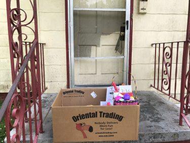 Light of the Village drops off foodstuffs for families. (John Eads/Alabama NewsCenter)