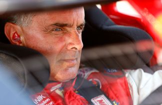 Mike Stefanik in 2012. (Photo by Jared Wickerham/Getty Images for NASCAR)