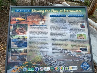 Signs along the watershed educate the public about restoration and conservation of the watershed. (Dennis Washington / Alabama NewsCenter)