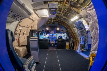Visitors can see inside the cockpit and builkhead of an Airbus jet. (contributed)