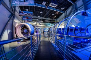 Inside features more than 40 high-tech aviation and aerospace exhibits with a heavy emphasis on commercial jet aircraft manufactured at the nearby Airbus U.S. Manufacturing Facility. (contributed)