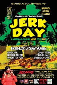Celebrate National Jamaican Jerk Day Oct. 24 with Caribbean music and food. (contributed)