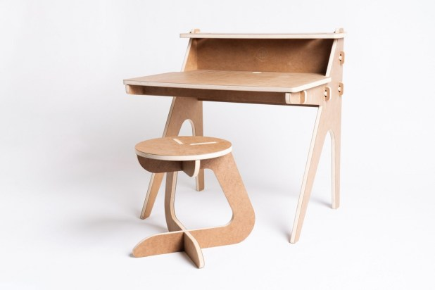 The E-Learning Desk is Birmingham-based Alabama Sawyer's effort to help fight the pandemic. The desk is ready to assemble, made of high-density plywood and suitable for schooling or working from home. (contributed)