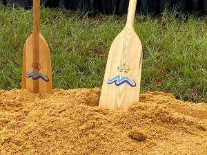 Officials broke ground on the long-anticipated Montgomery Whitewater project. (Sara Herman / Alabama NewsCenter)