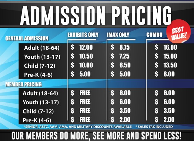 Exploreum Admission Prices