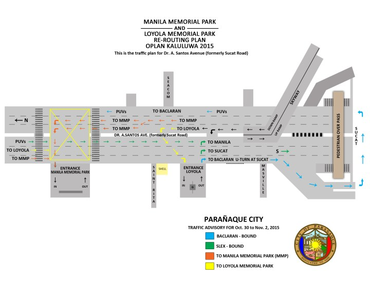 Loyola-Manila Memorial Re-Routing Plan 2015 copy