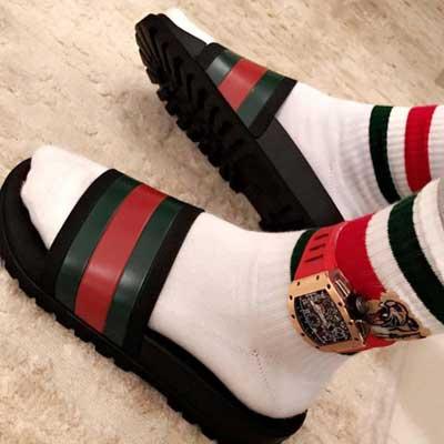 e10300da381acd Gucci Web Slide Sandal