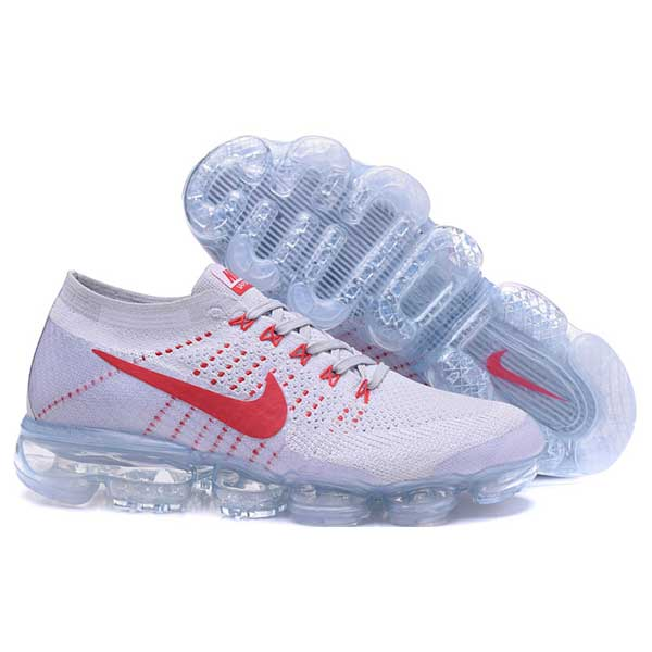 new arrival a4d60 4fe32 Nike Air VaporMax Flyknit white red | Alabastore.com