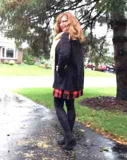 buffalo plaid old navy dress