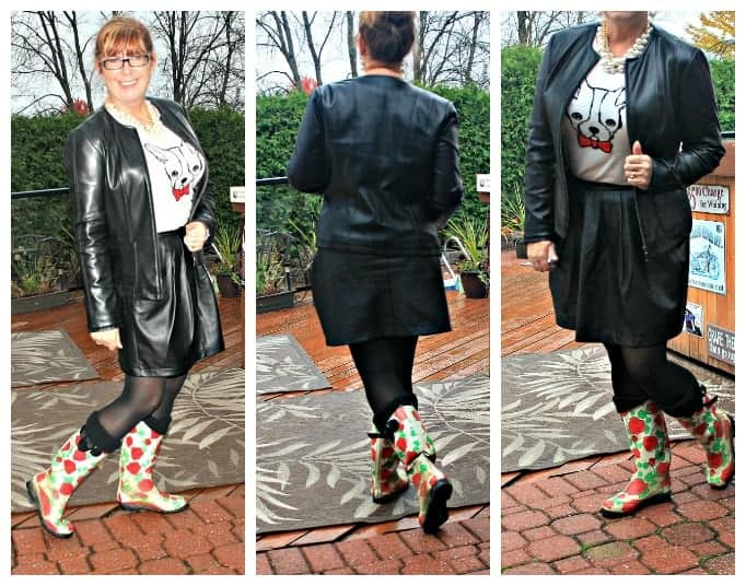 rainboots and leather