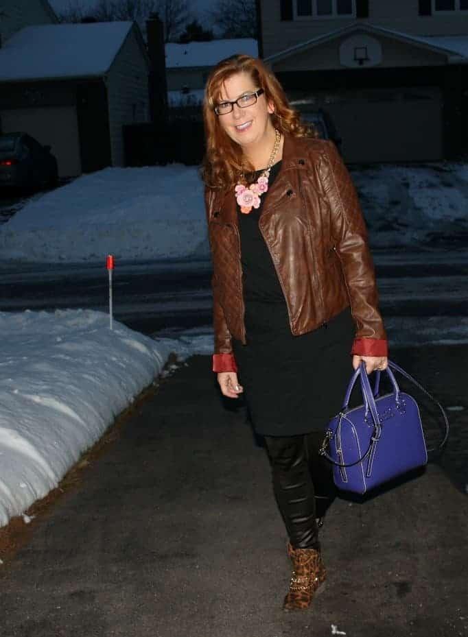 yosa necklace, rue 21 jacket Kate spade purse