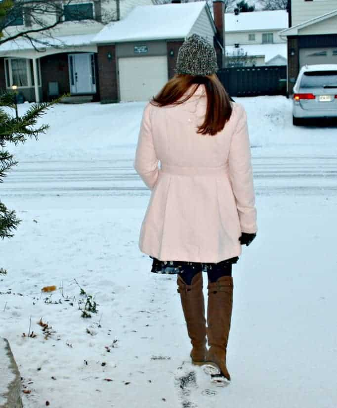boots from Shoe Dazzle, Pink coat from target