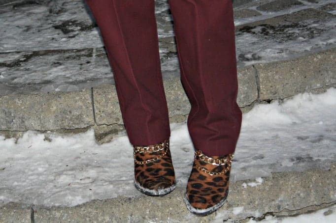 Shoe Dazzle Leopard Booties.