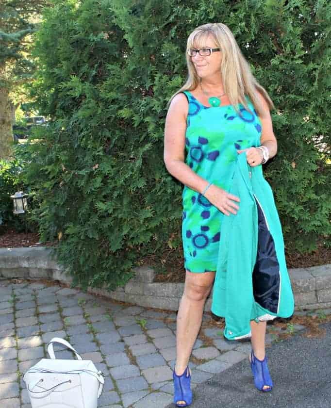 Joe Fresh  Shift Dress, She dazzle mesh wedges and a Kate Spade beau bag