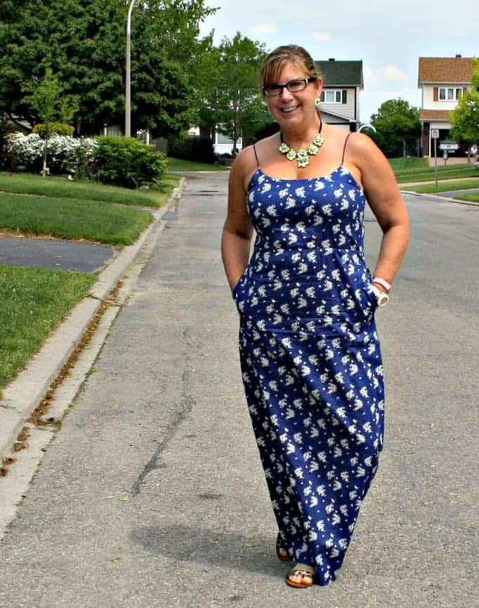 J Crew Maxi and a yosa neon yellow necklace