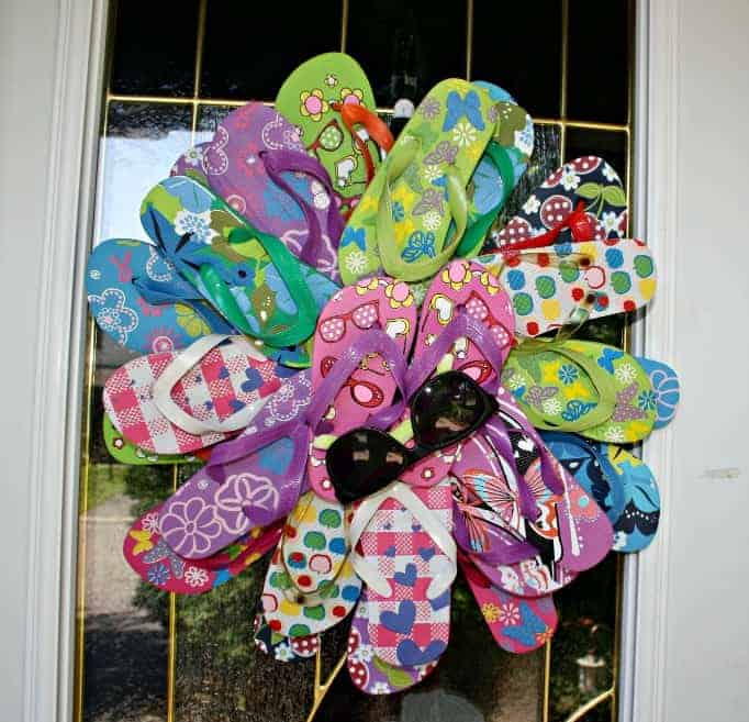 Front door flip flop wreath