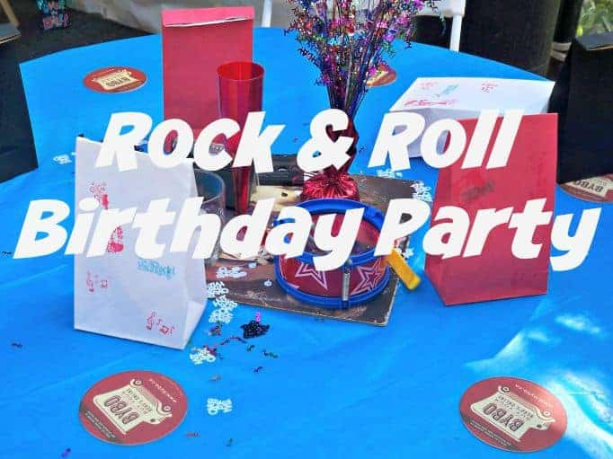 rock and roll Birthday Party
