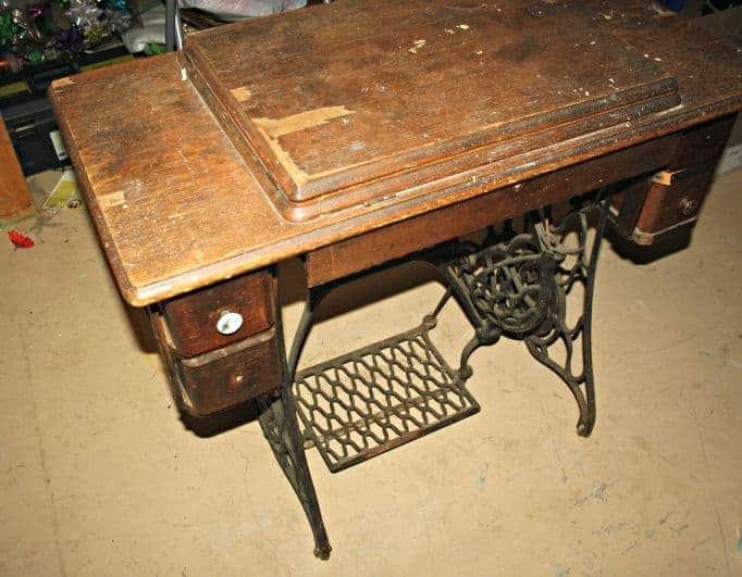 old singer sewing machine that needs work