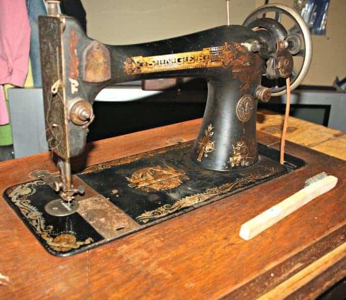 A singer sewing machine