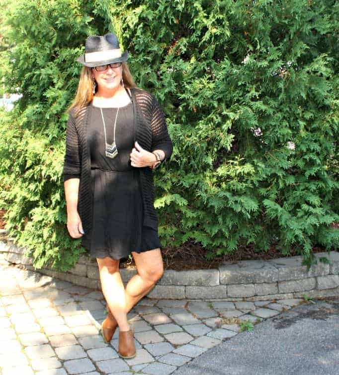 Forever 21 Black Festival Outfit, crochet and chiffon