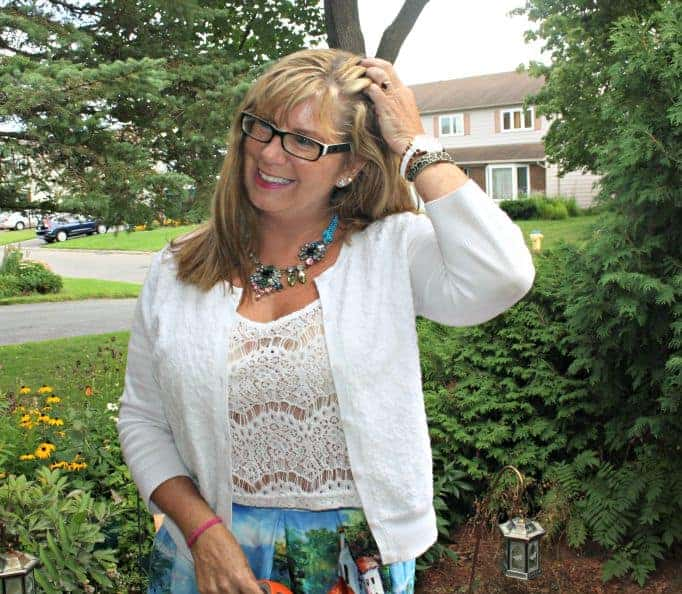 H & M Necklace and cami, with a Kate Spade watch