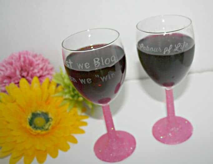 a labour of life wine glasses