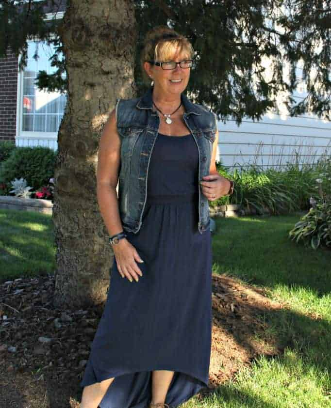Maxi and denim, perfect summer pairing