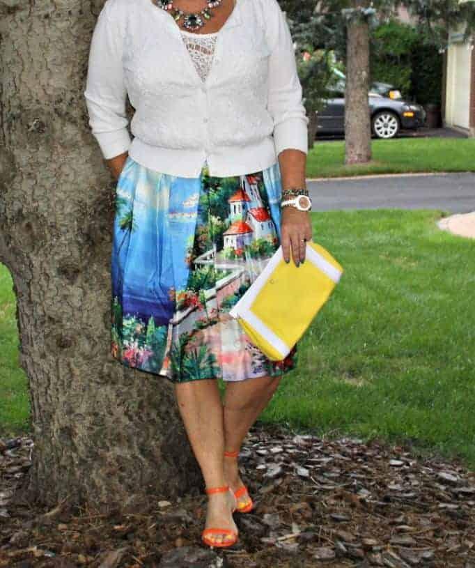 Seascape skirt by Shein