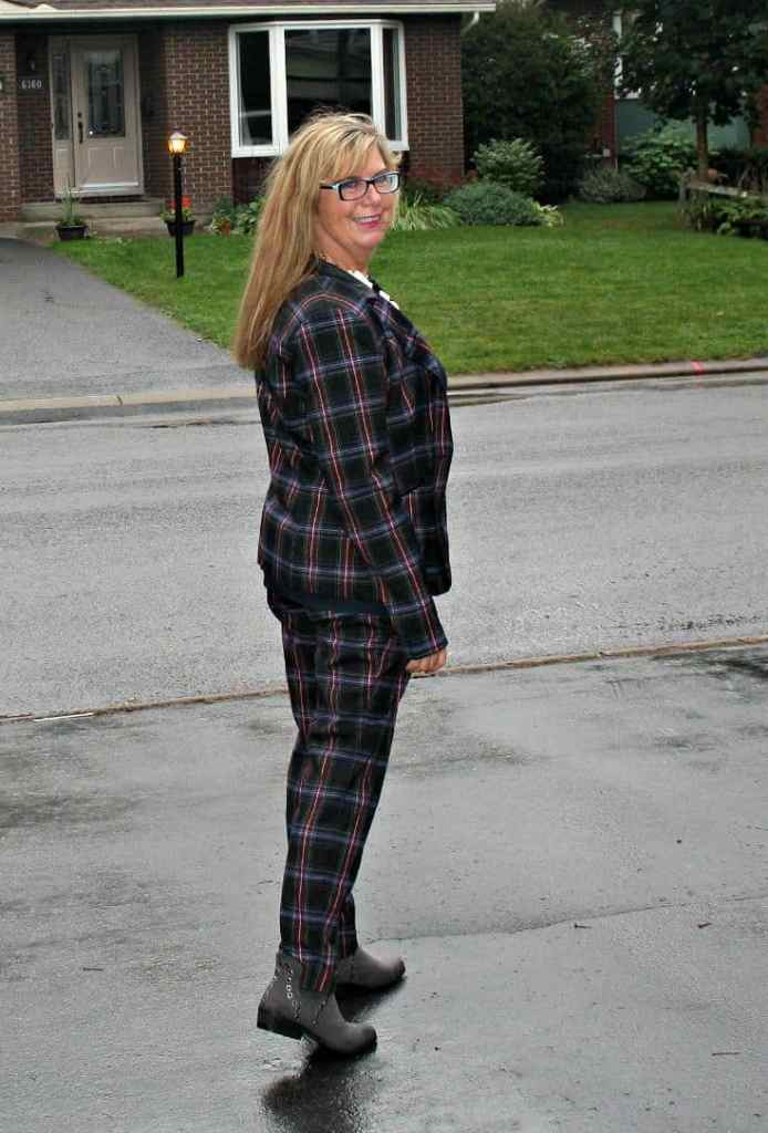 Plaid suit