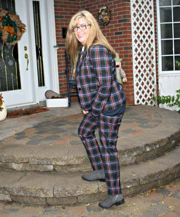 Plaid Blazer and pants from target and Grommet boots