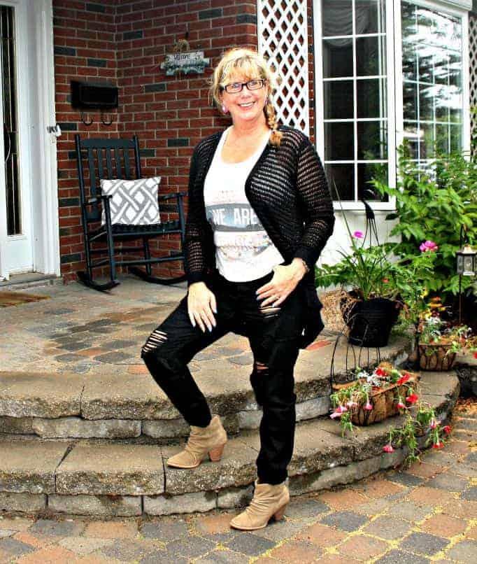 distressed black jeans f21