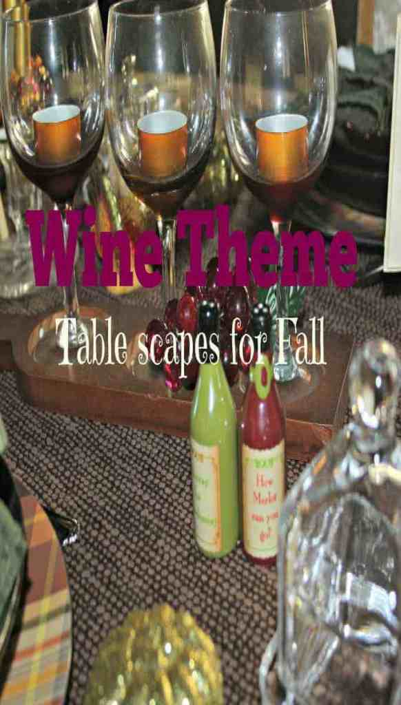 wine theme table settings