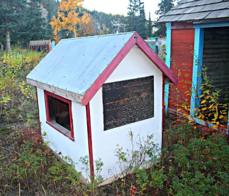 Whitehorse Kwanlin Dun First Nations cemetery spirit house
