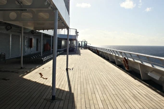 deck on the Carnival Glory