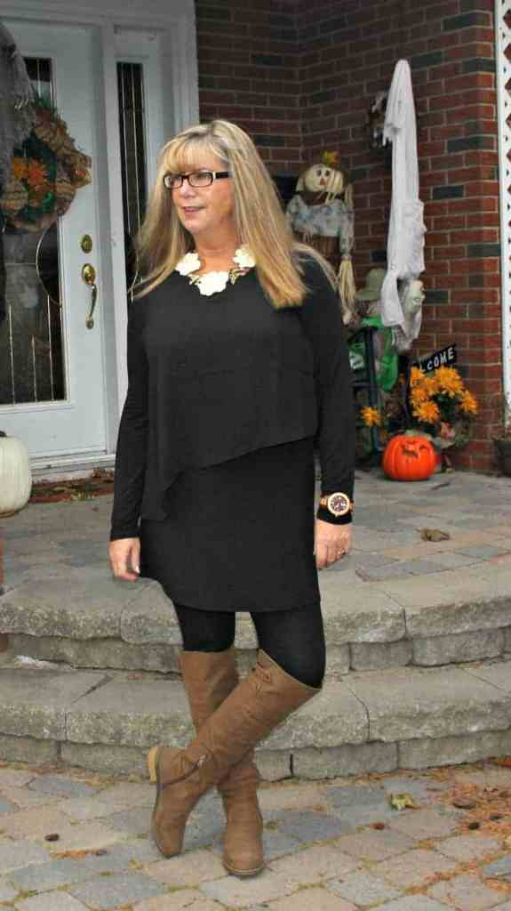 Selena Tunic with happiness boutique necklace and OTK boots