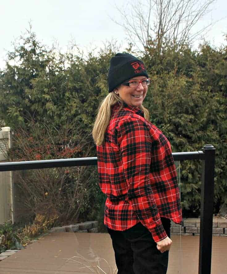 flannel and a toque