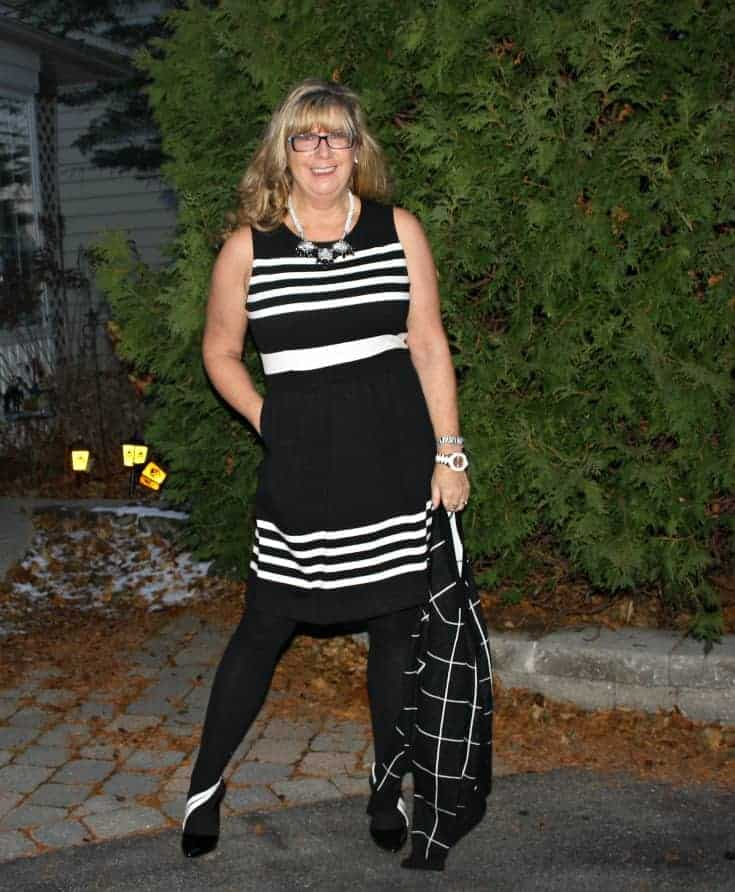 J Crew Black and white dress with pockets